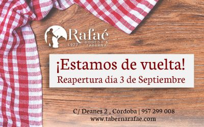 Reapertura de Taberna Rafaé: ¡No te la pierdas!